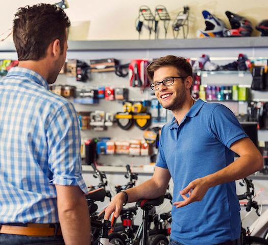 verkoopondersteuning in winkel of beursstand